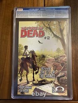 Walking Dead #1 Cgc 9.2 Nm- Pages Blanches Première Impression Numéro Clé 1er Rick Grimes