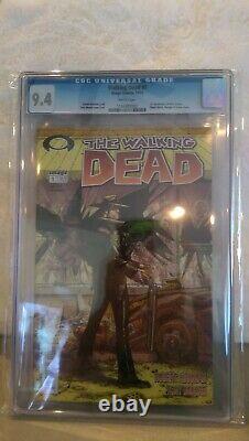 Walking Dead # 1 Cgc 9.4 Lettres Noires Htf