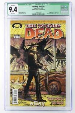Walking Dead # 1 Cgc 9.4 Nm Image 2003 1ère Application De Rick Grimes! Signé