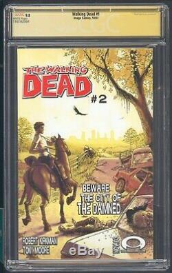 Walking Dead 1 Cgc 9.8 10/03 Ss R. Kirkman 1er App De Rick Grimes