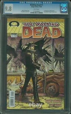 Walking Dead #1 Cgc 9.8 1ère Impression 2003 Rare Black Mature Readers 1er Rick Grimes