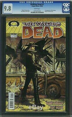 Walking Dead # 1 Cgc 9.8 1re Édition Première Apparition De Rick Grimes