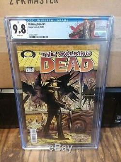 Walking Dead # 1 Cgc 9.8 Avec Étiquette Rick (nouveau Cas)