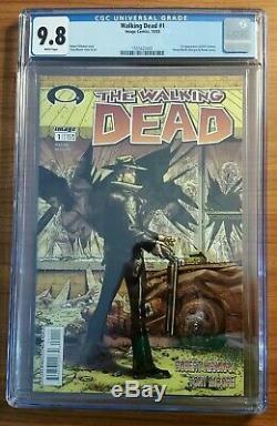 Walking Dead 1 Cgc 9.8 Etui Frais Pour Pages Blanches
