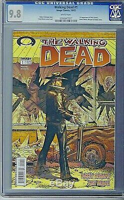 Walking Dead # 1 Cgc 9,8 Nm / Mt 1er Imprimer 1er Rick Grimes 2003 Robert Kirkman