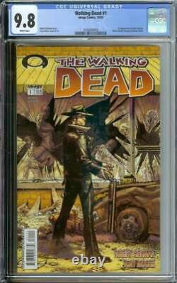 Walking Dead #1 Cgc 9,8 Pages Blanches // 1ère Apparition Rick Grimes 2003