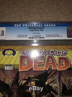 Walking Dead 1 Cgc 9.8 Pages Blanches Frais De Cas. 1er Imprimer, 1er Rick Grimes