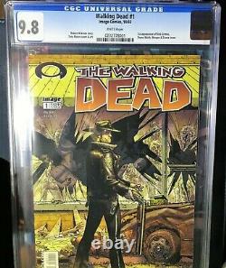 Walking Dead # 1 Cgc 9.8 Première Impression 1ère Apparition De Rick Grimes
