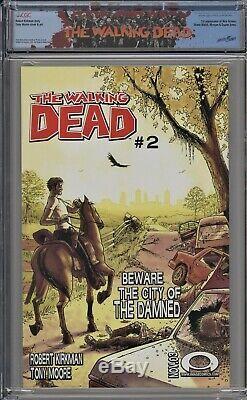 Walking Dead 1 Cgc 9.8 Rick Grimes Étiquette 1er Morgan Robert Kirkman Tony Moore