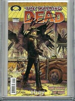 Walking Dead 1 Cgc 9.8 Ss X2 1er Print Robert Kirkman Tony Moore Amc Zombies 2 3
