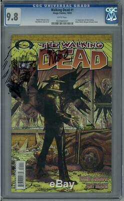 Walking Dead # 1 Cgc 9.8 (w) 1ère Application Rick Grimes, Shane Walsh, Morgan Et Duane