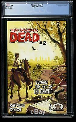 Walking Dead # 1 Cgc Nm / M 9.8 Pages Blanches 1er Rick Grimes