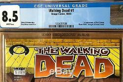 Walking Dead # 1 Cgc Noté 8.5 Rare White Mature Readers Edition 1ère Impression