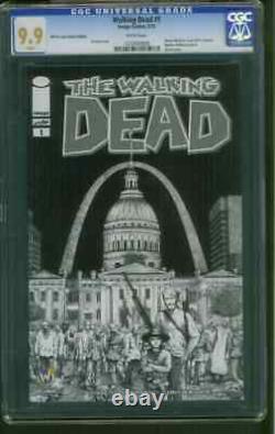 Walking Dead 1 Cgc Ss 9.9 St. Louis Sketch Variante Vers Le Haut 9.8 Gerhard Cerebus Artiste