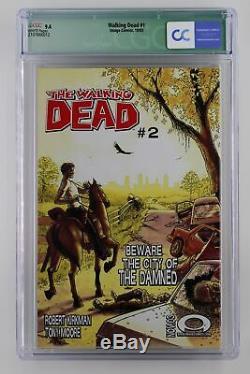 Walking Dead # 1 Image 2003 Cgc 9.4 1er App De Rick Grimes & Shane Walsh