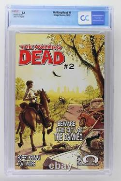 Walking Dead #1 Image 2003 Cgc 9,6 1ère App Rick Grimes, Shane Walsh & Morgan