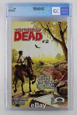 Walking Dead # 1 Image 2003 Cgc 9.6 1ère Application De Rick Grimes & Shane Walsh