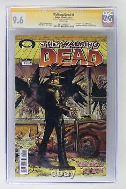 Walking Dead #1 Image 2003 Cgc 9.6 1ère Application Rick Grimes! Signé Par Kirkman