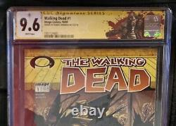 Walking Dead #1 Image Comic 2003 Cgc 9.6 1ère App Rick Grimes Signé Par Kirkman