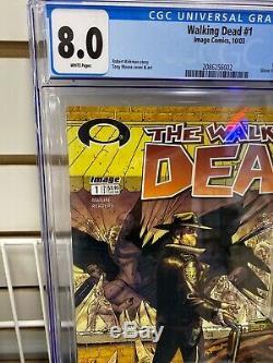 Walking Dead # 1 Image Comics 10/03 1er Imprimer Cgc 8.0 1er App Rick Grimes 6g