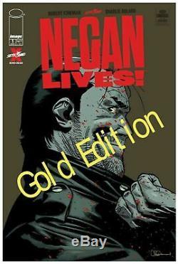 Walking Dead # 1 Negan Vies D'or Variant Cover 1 Par Magasin Nm Précommande