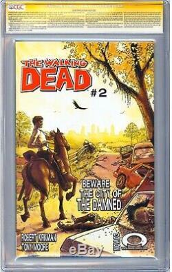 Walking Dead # 1 Ss Cgc 9.8 Signé Par Moore & Kirkman, Croquis Zombie Par Moore