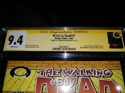 Walking Dead 1 (image) 2003 1ère Première Impression Cgc 9.4 Ss Signée Robert Kirkman