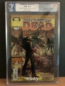 Walking Dead #1 -pgx 9.4 Signé Kirkman Premier Rick Grimes