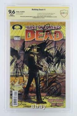 Walking Dead #1 -signé Cbcs 9.6 Nm+ Image 2003 1ère Application De Rick Grimes