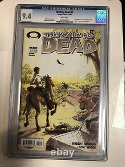 Walking Dead (2003) # 2 Cgc 9.4 Blanc 1ère Apparition Carl & Lori Grimes