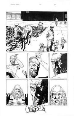 Walking Dead # 20 Image 2005 (art Originale) Pg 14 Charlie Adlard Zombies