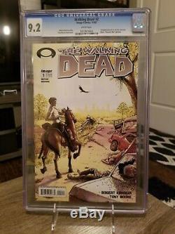 Walking Dead # 2 1er Imprimer Cgc 9.2 1er App De Glenn, Lori Et Carl
