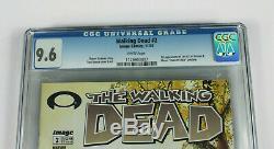 Walking Dead # 2 1st Print Cgc 9.6 Pages Blanches Jamais Pressées Carl Lori Glenn