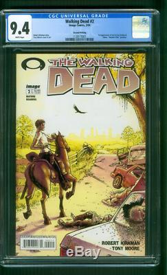 Walking Dead 2 Cgc 9.4 Kirkman Moore 1er Lori Carl Grimes 2ème Impression Amc Tv