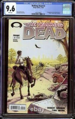 Walking Dead # 2 Cgc 9.6 Blanc (image, 2003) 1er Lori Et Carl Grimes