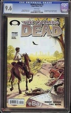 Walking Dead # 2 Cgc 9.6 Blanc (image, 2003) 1ère Apparition De Carl & Lori Grimes
