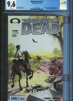 Walking Dead # 2 Cgc 9.6 Pages Blanches. Unrestored