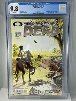 Walking Dead # 2 Cgc 9.8 1er Lori Carl Grimes Glenn 11/03 2003 Image Comics Blanc