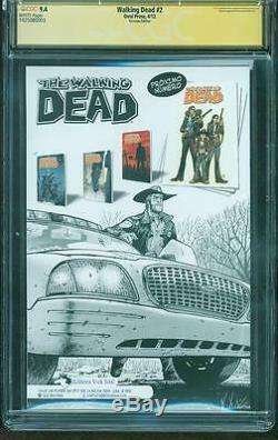 Walking Dead 2 Cgc Ss 9.4 Robert Kirkman Pérou Variante 1 Série Tv N ° 8 Amc