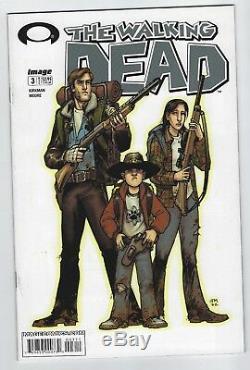 Walking Dead # 3 (2003, Image) Robert Kirkman, Tony Moore, 1ère Impression, F / F +