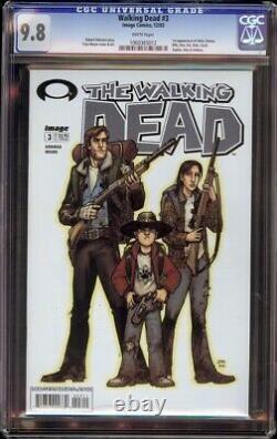 Walking Dead # 3 Cgc 9.8 Blanc (image, 2003) 1er Andrea, Amy, Et Carol