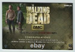 Walking Dead 3 Reedus & Lincoln Oversized Dual Auto Carte Oam-20 De La Rédemption