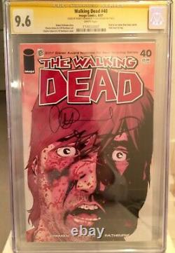 Walking Dead 40 La Ss 9.6 De La Ccg A Signé Robert Kirkman & Charlie Adlard Key Numéro! Nm