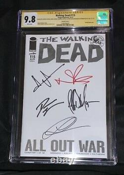 Walking Dead 5x Cast Signed Cgc Ss 9,8 Variante Tv Amc Lincoln Reedus Morgan 1