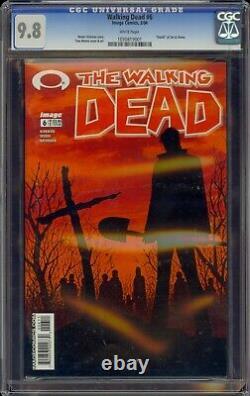Walking Dead # 6 Cgc 9,8 Blanc (image, 2004) Mort De Jim & Shane