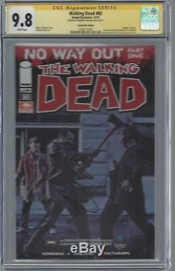 Walking Dead # 80 Photo De Couverture Cgc 9.8 Ss Signé Andrew Lincoln Rick Rare