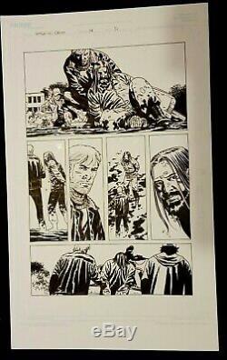 Walking Dead # 94 Page 19. Début Classique Jésus, Charlie Adlard Art Original