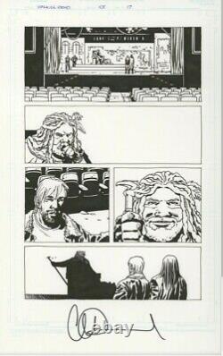 Walking Dead Art Comique Original. Première Apparition Du Roi Ézéchiel