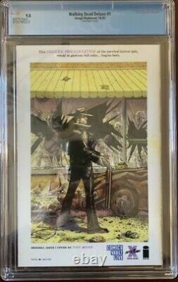 Walking Dead Deluxe 1 Cgc 9.8 Finch B&w Comics Vault Live Exclusive Rare