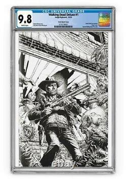 Walking Dead Deluxe 1 Cgc 9.8 Finch Vierge B & W Couverture. Ltd À 250! Voûte Comique